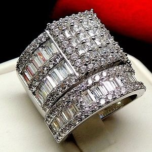 Purity 925 stamped 3pcs ring huge